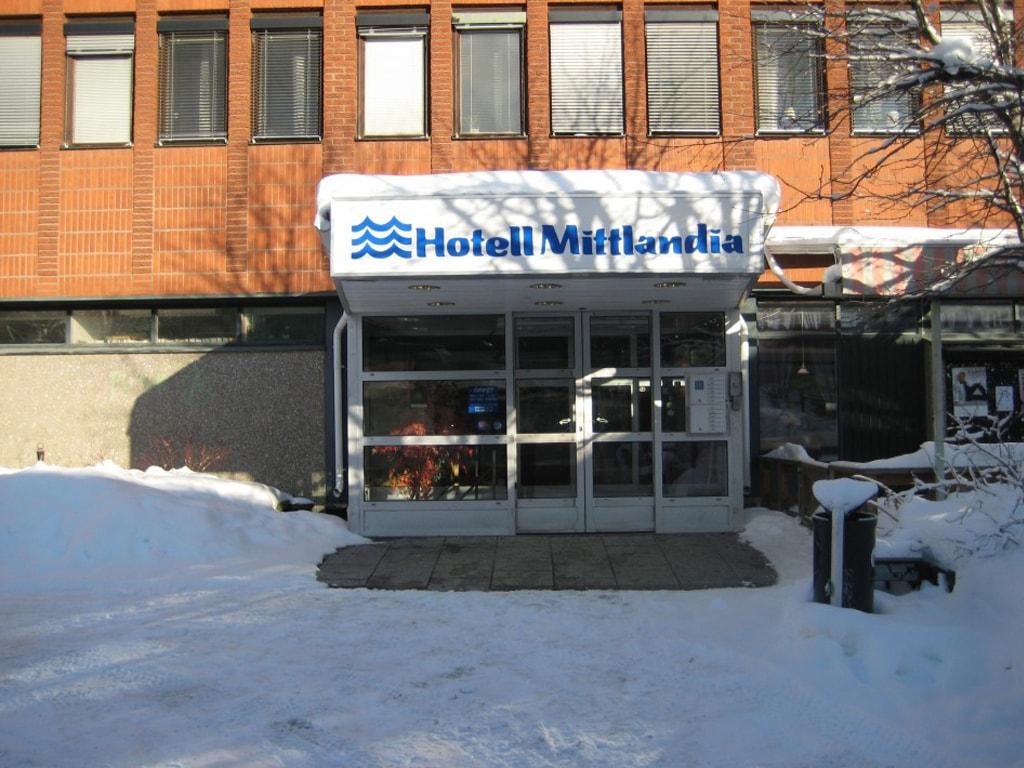 Utsidan av Hotell Mittlandia.