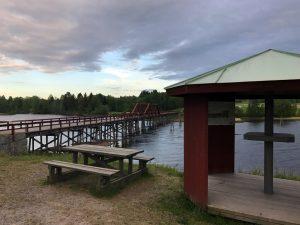 Vikbron i Fränsta är sveriges längsta träbro.