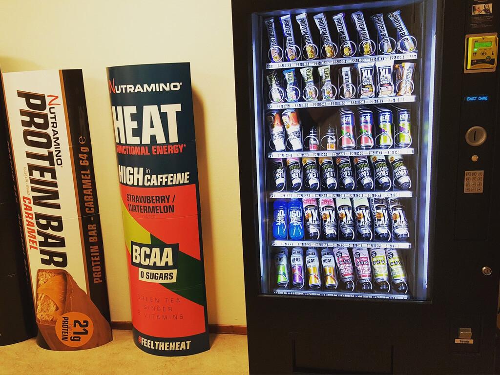 Automaten för kosttillskott på All In Training i Ånge.