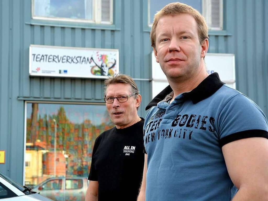 De två ägarna av All In Training i Ånge.