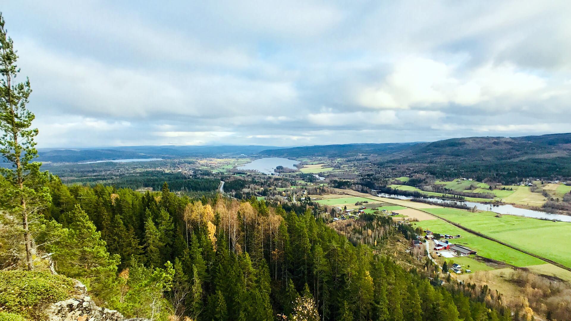 Utsikten över Getberget i Ljungaverk.