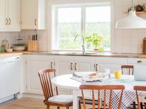 Köket i Gårdshuset till Kristofera bed & breakfast.