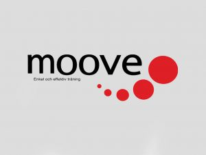 Logotypen till gymmet Moove i Ånge.