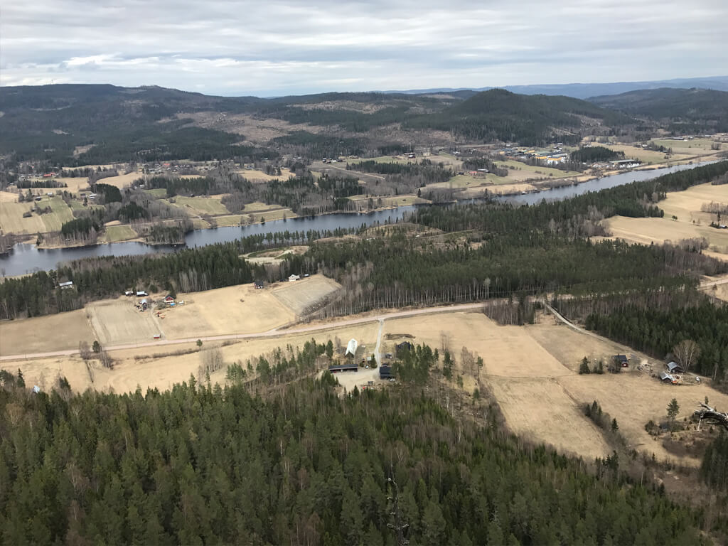 Utsikten över Rankleven i Erikslund.