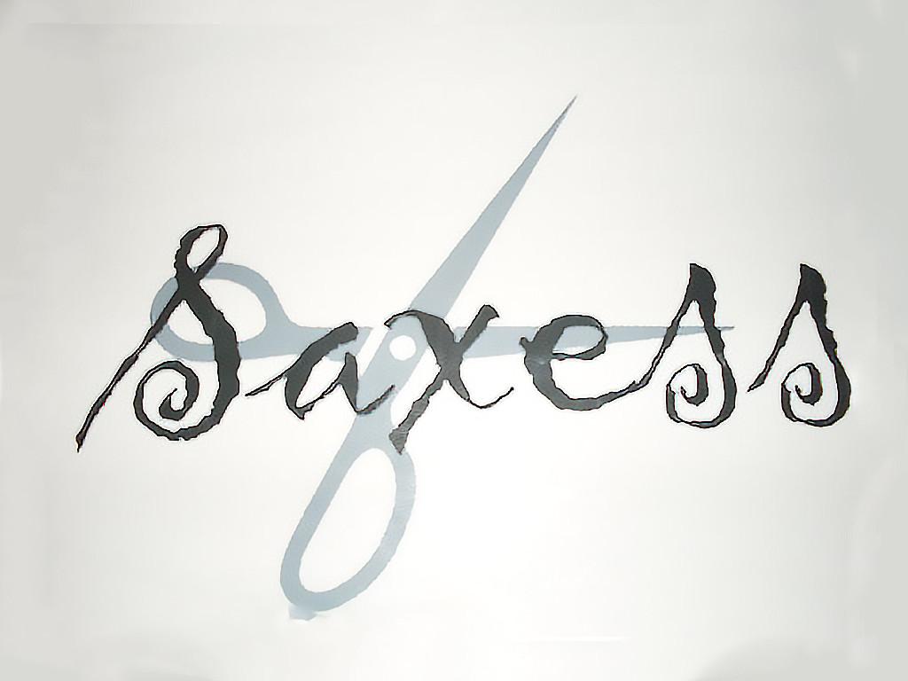Logotypen till Saxess hårfrisör i Ånge.