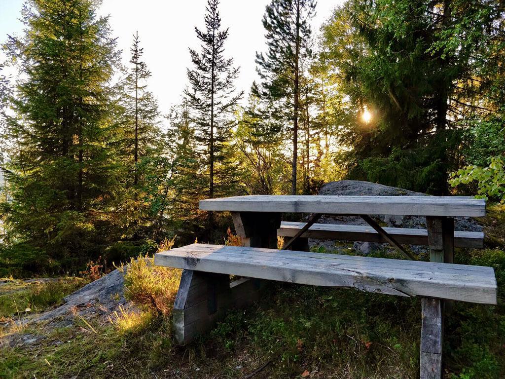 På Bergåsen i Borgsjö finns det en rastplats med vacker utsikt över Borgsjön