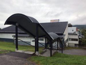 Ingång till Fränsta Sim och Sporthall i Fränsta.