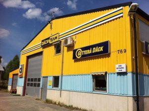 Utsidan av däckverkstaden Getterå Däck.