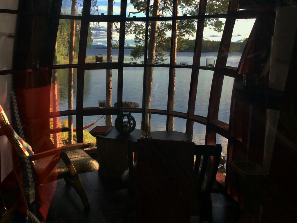 Insidan av Island Tree Houses.