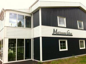Utsidan av Mattssons Glas och Produktion i Fränsta.