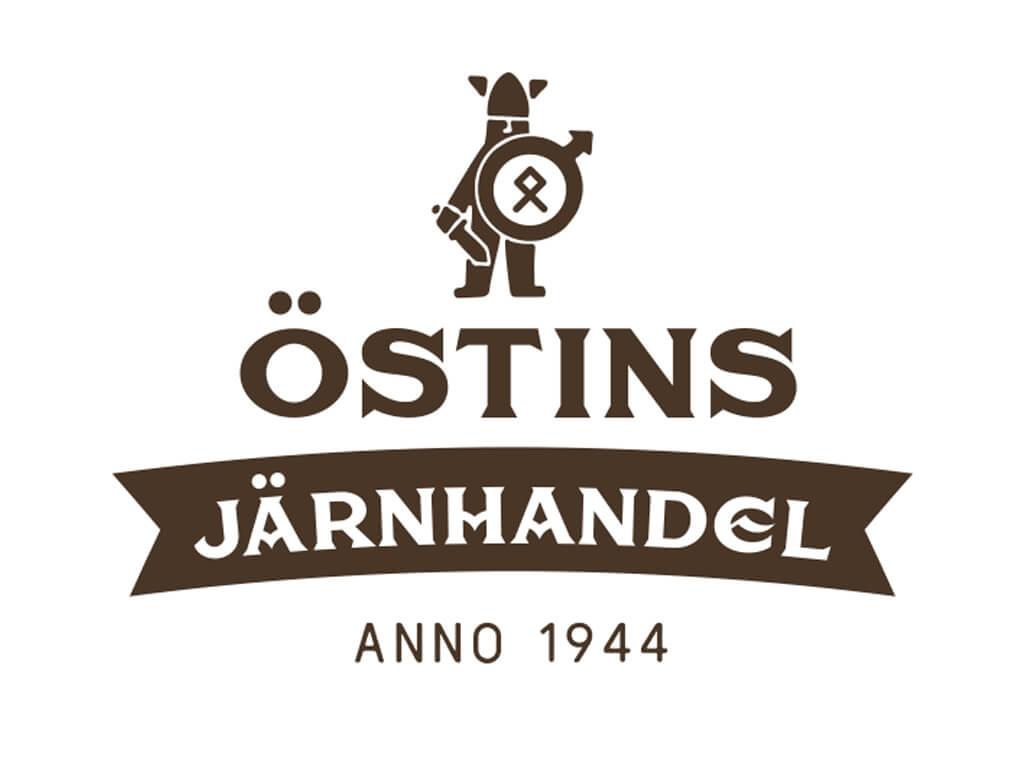 Logotypen för Östins Järnhandel i Fränsta.