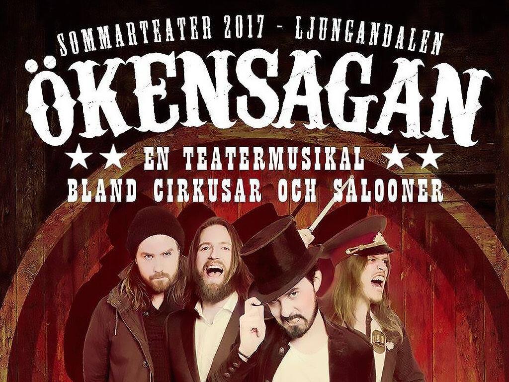 Affisch för Teatermusikalen Ökensagan.