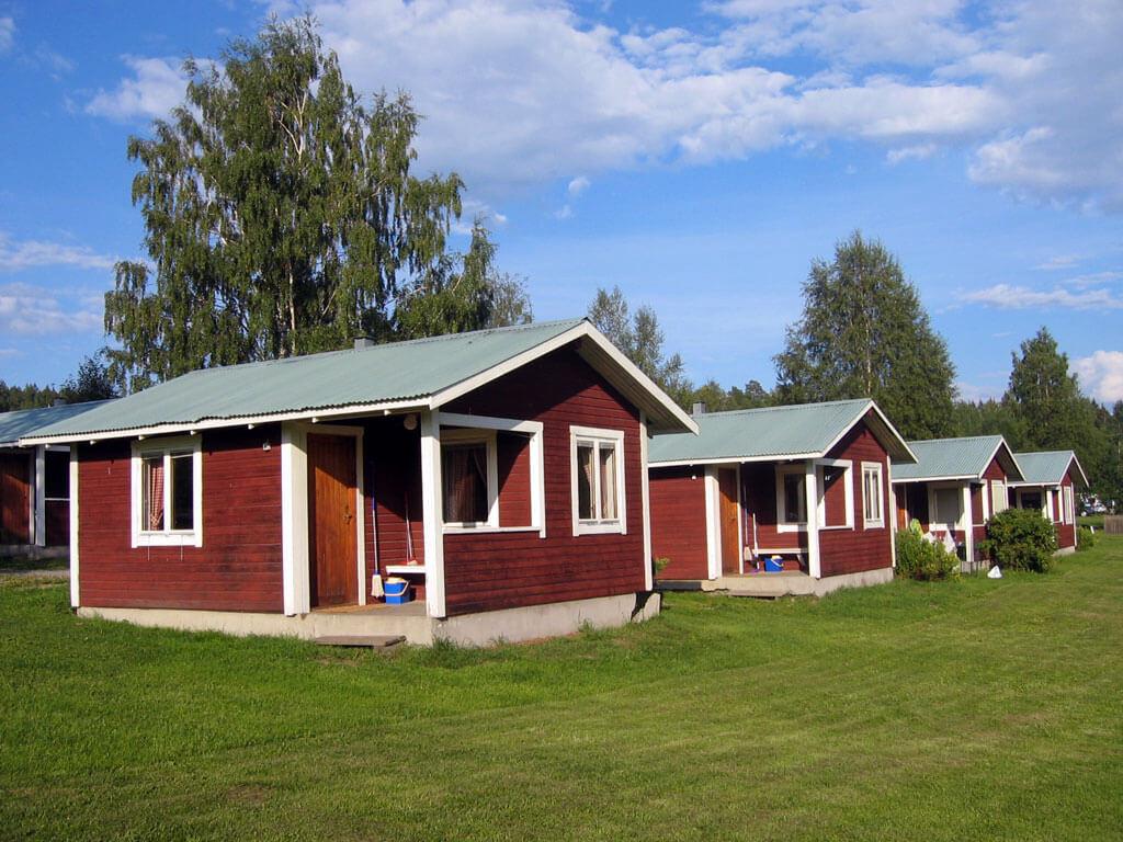 Stugorna campingen vid Träporten i Borgsjö