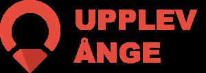 Upplev Ånge stor logotyp i röd och mörkröd.