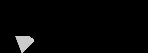 Upplev Ånge logotyp stor i svart och grå.