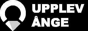 Upplev Ånge stor logotyp i vit och grå.