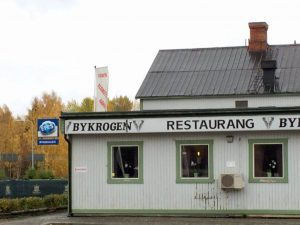 Utsidan av Bykrogen i Fränsta.