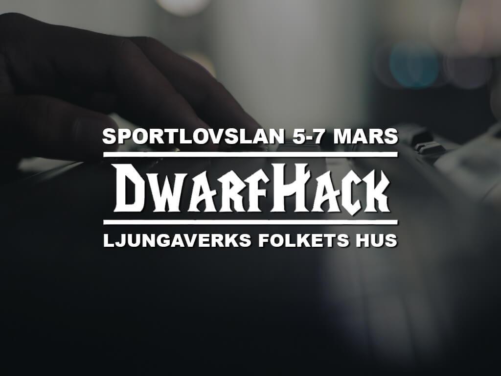 Den 5-7 mars arrangerar DwarfHack ett Sportlovslan i Ljungaverks Folkets Hus.